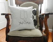 Cat Home Pillow Cover. Cats. Home. Love. Pets. Handlettering. Typography. Christmas Gift for Pet Owner.
