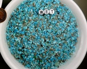 Turquoise Sleeping Beauty Mine (Blue, 8 ounces #3b) Natural Hand Crushed Inlay Powder for Artists, free U.S. shipping
