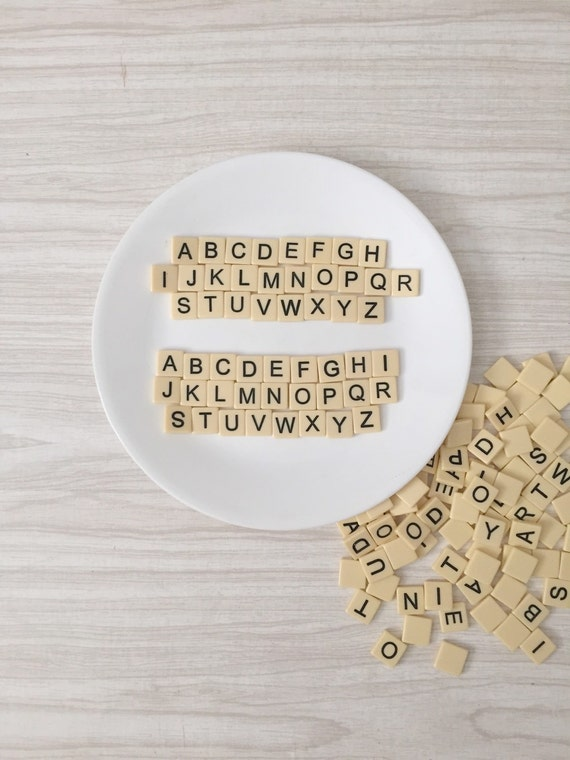 alphabet letter blocks // hard plastic // abc set