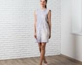 Felted grey dress,   fall autumn fashion, nuno felted dress