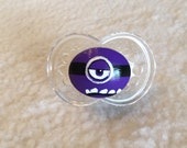 One Eyed Evil Minion Custom Hand Painted Pacifier by PiquantDesigns