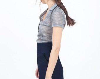 Navy blue skirt, navy skirt, blue skirt , blue A line skirt, cotton skirt, summer skirt, short skirt, casual summer skirt