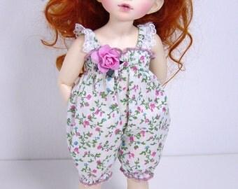 LTF/LittleFee/Yo-SD BJD Vintage Lacy Pink Rosebud Sunsuit