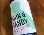 State Wine Labels, Table Number Wine Labels, Wedding Wine Label, Custom, Personalized, Label, Place Cards, Sticker, Party, Favor, Decoration