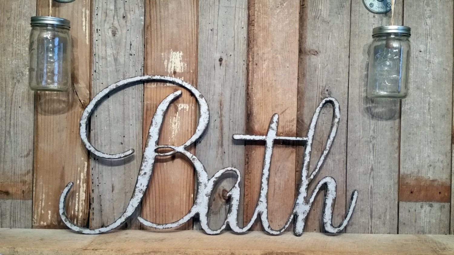 Bath Sign Shabby Bath Wall Hanging Home Decor Photo Prop