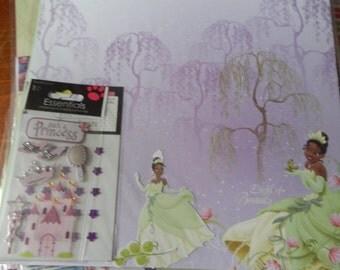 12x12 disney princess Tiana scrapbook page kits