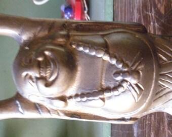 Vintage Solid Brass Hotei Buddha