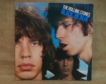 CRAZY CUPID SALE The Rolling Stones - Black and Blue - 1976 Vintage Vinyl Gatefold Record Album