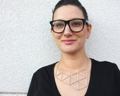 Asymmetrical Geometric Necklace