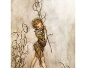 Fairy Greeting Card - Arthur Rackham - Puck from Midsummer Night's Dream