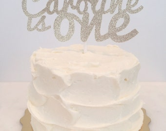 Custom 1st Birthday Cake Topper // First Birthday Smash Cake Topper