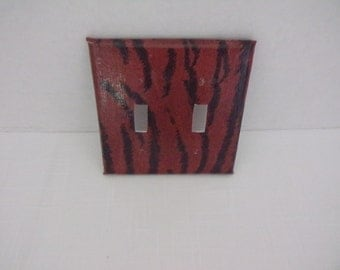 Tiger Stripe Two Toggle Light Switchplate Cover