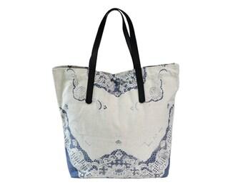 Boho Chic Big Canvas Tote. Boho Tote. Beach Bag.Bohemian Bag. Gypsi Bag. Boho Chic Big Tote. Shopping Tote.