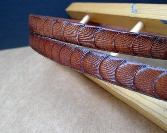 """Leather belt , luxury brown thin belt , ladies skinny belt , 27"""" belt , medium brown belt , designer fashion"""