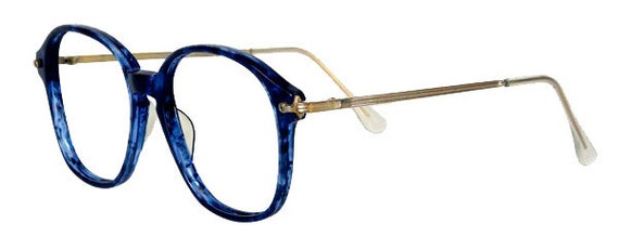 Vintage 1980s Blue Eyeglass Frames Never Used