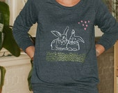 chillin with my bestie Bunny Shirt, Slouchy Pullover, Rabbit Sweater, Best Friends