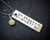 Custom Crystal Mantra Necklace- Om Shakti Om Shakti Om