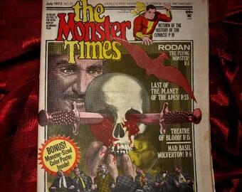 The Monster Times 1973 No 24 Basil Wolverton art Rodan Poster Planet Of The Apes Brunner Chaney Sci Fi Horror
