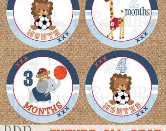 "Future All Star Sports MVP Monthly Onesize Stickers - 4"" diameter"