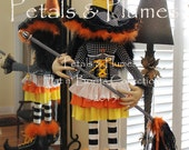 """PRE-ORDER for """"2016""""Delivery-Halloween Candy Corn Witch Stand Centerpiece-Petals & Plumes-The ORIGINAL Creator of the Character Wreath-43""""H"""