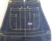 Vintage 90s Big Smith Dark Denim Overalls Work Wear Rockabilly Car Culture Mens Size Small Medium 36 x 29