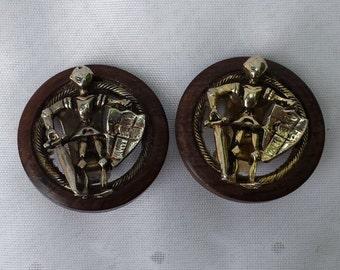 Knight in Armor Clip On Earrings