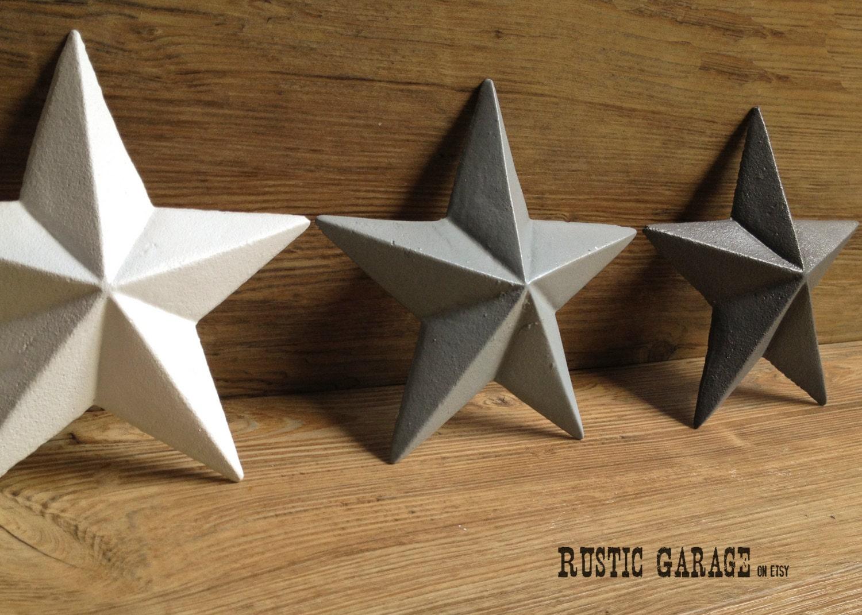 Texas Star Wall Decor set of 3 cast iron texas stars handpainted metal wall