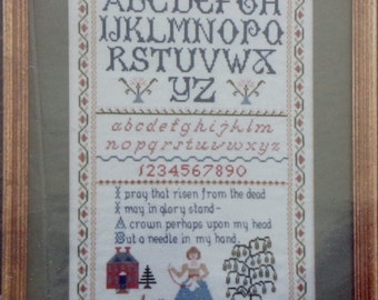 Cross Stitch Pattern NEEDLEWOMAN'S SAMPLER By Pat Harper Designs
