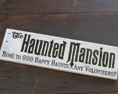 The Haunted Mansion Directional Sign post Sign Halloween