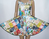 Children's Picture Books Skater Dress Full pattern  - Made to Order