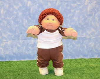 "Cabbage Patch Clothes - Handmade for 16"" - 18"" Boy Dolls - Brown Sweats Outfit"