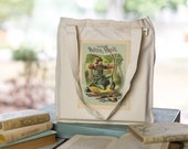 Robin Hood Tote, Organic Cotton Canvas Bag, Book Bag, Market Tote, Jack the Giant Killer