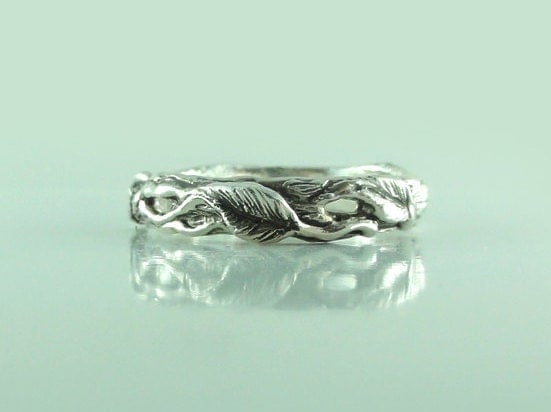 branch wedding ring twig and leaf wedding band tree branch ring twig wedding 2055