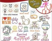 Cats and Dogs, Embroidery Transfer, Embroidery Pattern, Stitchers Revolution, Hand embroidery, Pattern