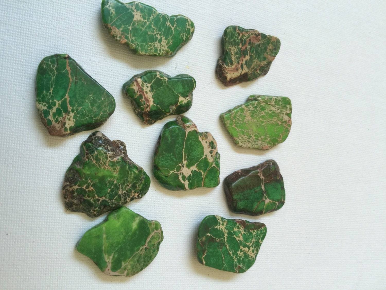Green Jasper Gemstone Necklace Chunky Gemstone by ...  |Green Jasper Jewelry