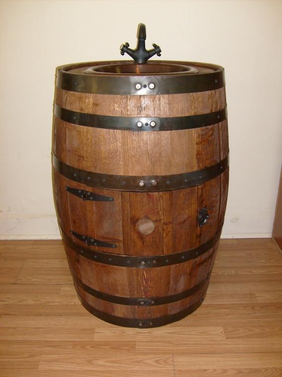 Whiskey Barrel Sink Darker Finish Dark Copper By