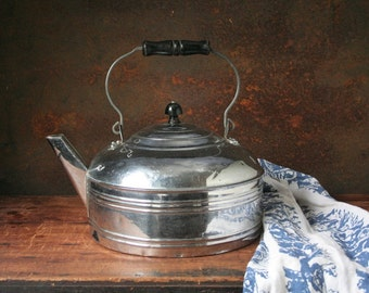 Revere kettle, vintage water kettle, vintage chrome kettle, huge water kettle
