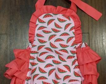 Watermelon Ruffle Romper