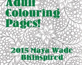Zendoodle Zentangle Coloring Page Pdf