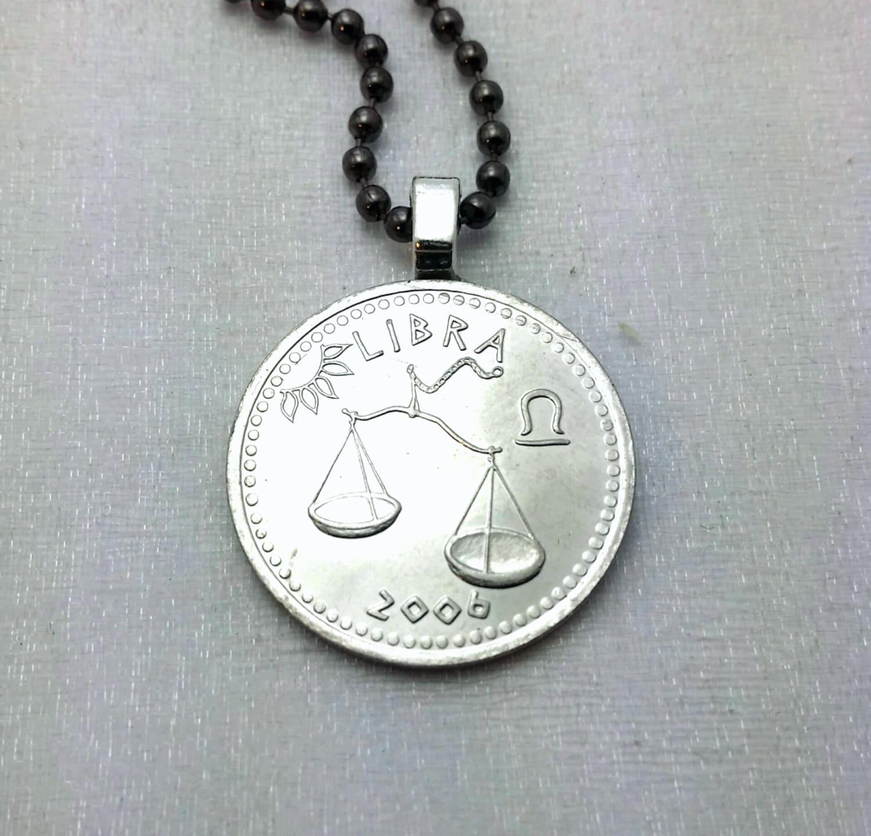 Napier Zodiac Medallion Pendant Necklace: Libra Pendant Zodiac Necklace Coin Necklace 2006 Libra
