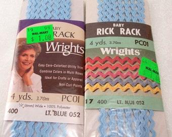 Baby Rick Rack   Wrights Light Blue - 2 Packs