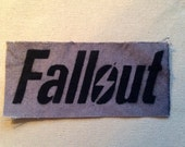 Fallout Logo, Canvas Patch, Gray