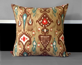 "Large Indian Style Khanjali Cushion Cover 22"" x 22"", Ready to Ship"