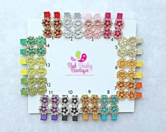 Pick Any 2 Flower Clips - Baby Girl HairClips - Alligator Clips - Baby Girl Hair Bow - Baby Hair Accessories