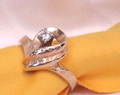 Sale, Diamond Solitaire 14K Yellow Gold Ring