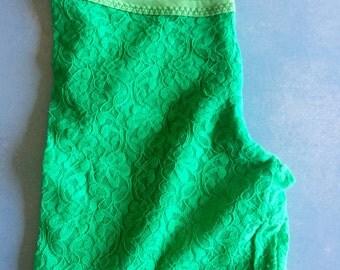 PINKO - Green Lace Leggings - M