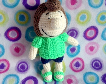 "Peppermint Patty Amigurumi Doll ""Peanuts"""