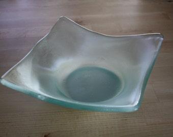 Reclaimed Glass Asymmetry Bowl