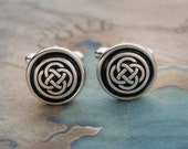 Celtic Cuff Links, Celtic Knot Cuff Links, Celtic Cufflinks, Anniversary Gifts For Men, Groomsmen Gift