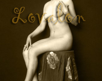 MATURE... Art Deco Beauty... Deluxe Erotic Art Print... Vintage Nude Glamour Photo... Available In Various Sizes